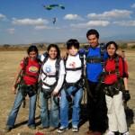 ¡Salté ociosamente en paracaídas!