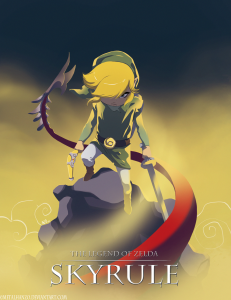 The Legend of Zelda: Skyrule - por Metalhanzo (deviantart)